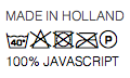 Made in Holland, 100% JavaScript